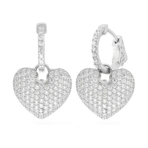 Image of Domed Heart Earrings