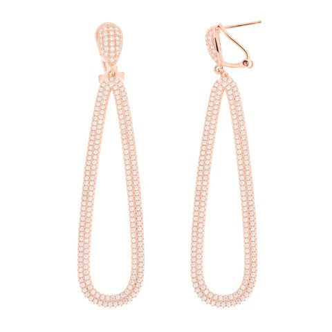 Image of Rose Gold Trioval Earrings