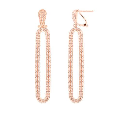 Image of Rose Oval Earrings