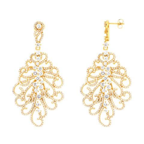 Image of Ladies Fleour Drop Earrings