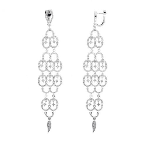 Image of Ladies Chandelier Drop Earrings