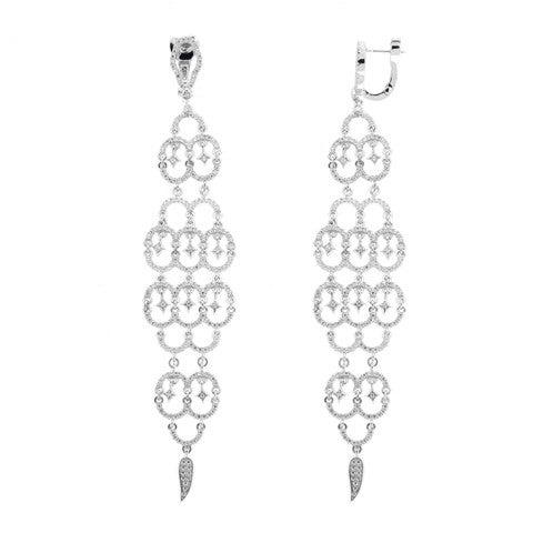 Image of Ladies Chandelier Drop Earrings