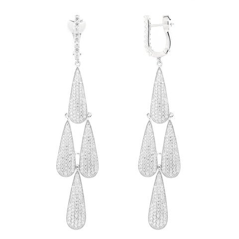 Image of Ladies Tear Drop Chandelier Earrings