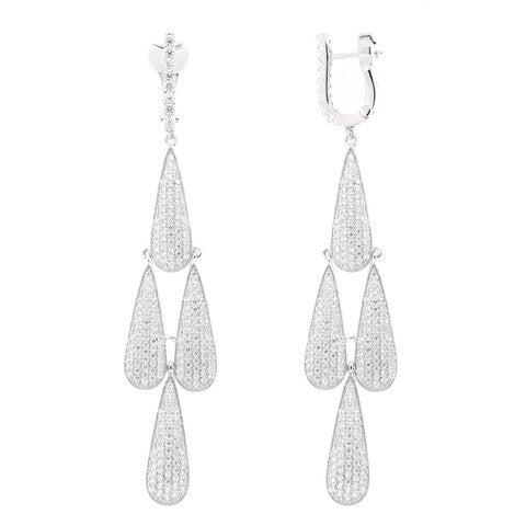 Image of Ladies Tear Drop Chandelier Earrings