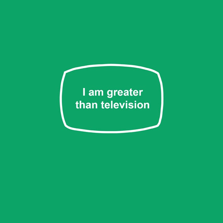Image of I am greater than television - womens