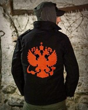 Image of SH130 [RED EAGLE] Black German BDU Jacket