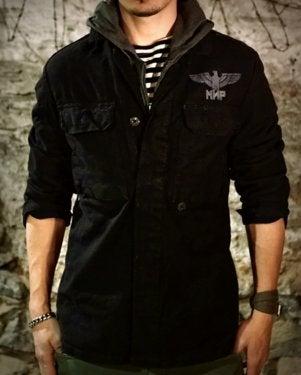 Image of SH132 [EAGLE DIVISION] Black German BDU Jacket