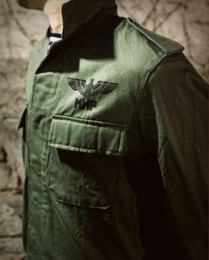 Image of SH142 [FLYING SKULL] Vintage Belgian BDU Jacket