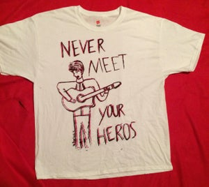 Image of Never Meet Your Heroes Shirt-RED