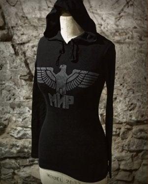 Image of MIR127 THE MIR EAGLE Women's Thermal Hoodie
