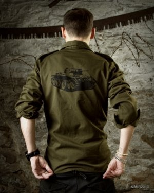 Image of SH26 [PANZERKNACKER] Vintage Military BDU Shirt - SHIPS FREE TO US and CANADA!