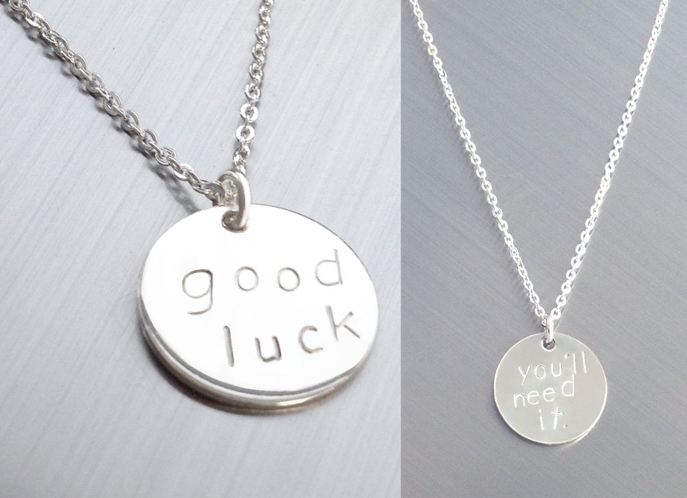 Image of good luck....you'll need it