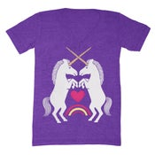 Image of V-Neck Unicorns Purple