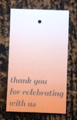 Image of Assorted Thank You Ombre Gift Tag with baker's twine and recipient name