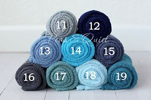 Image of Peas and Quiet Classic Stretch Knit Wraps-Blues