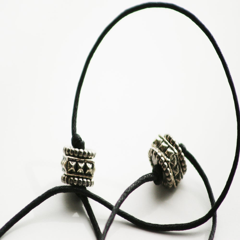 Image of HEAVY METAL Earpiece Holder Necklace