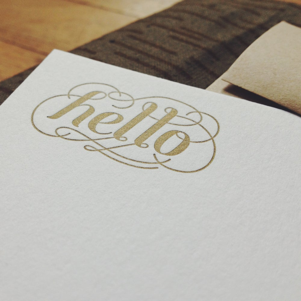 Image of Hello Notecard Set