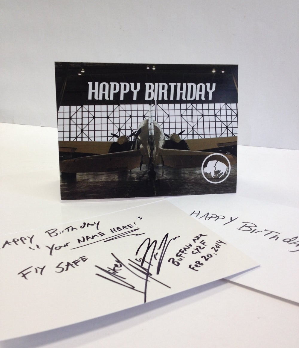 Image of Buffalo Airways B-Day Card