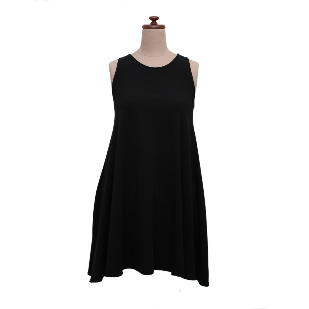Image of Black Bamboo Short Swing Dress