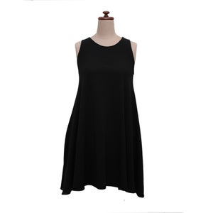 Image of Black Bamboo Short Swing Dress