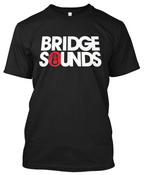 Image of BRIDGE SOUNDS BLACK TEE