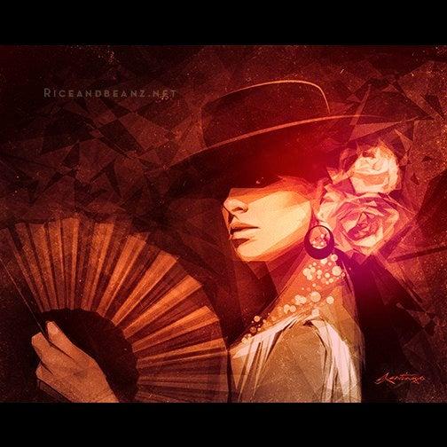 Image of  Day 16 of Flamenco February. Original & prints.