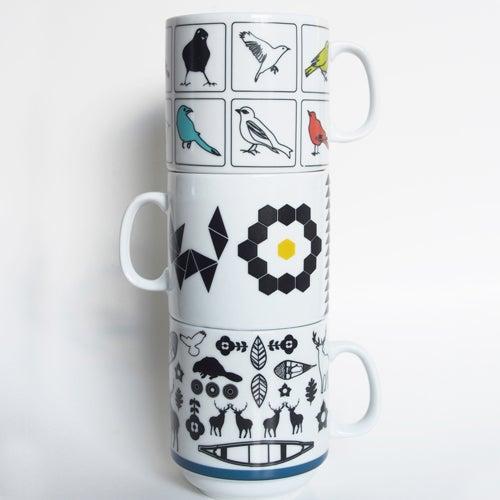 Image of Ceramic Nesting Mugs [3 designs]