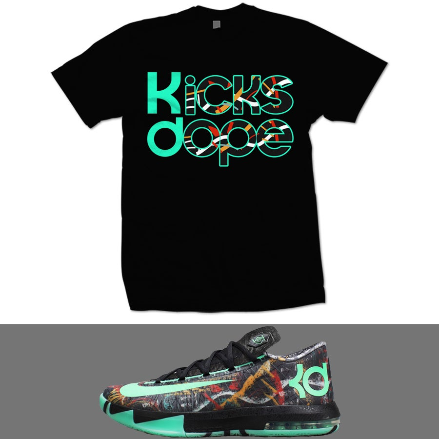 Image of ALL STAR KD 6 ILLUSION T SHIRT - BLK -Kd Energy Shirt