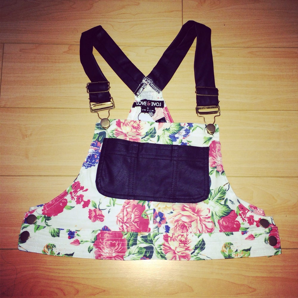 Image of Floral Overall Crop Top