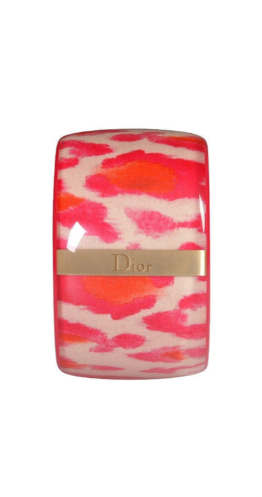 Image of ON SALE CHRISTIAN DIOR Authentic  Tiger Pink LOGO BANGLE Bracelet