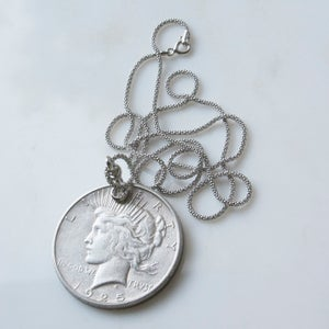 Image of Peace Dollar Pendant