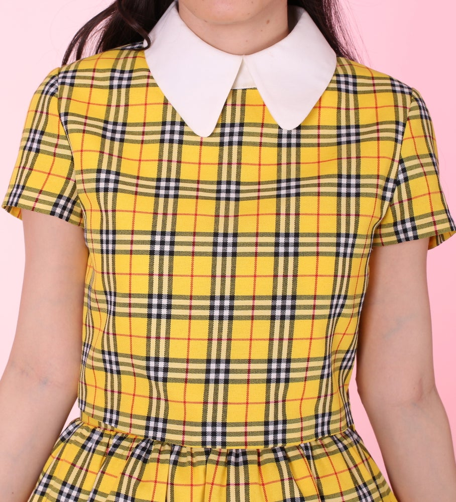 Image of Yellow Tartan Clueless Short Sleeved Top