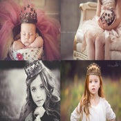 Image of Star Crown - Vintage Style - ONE Size - Photography Prop