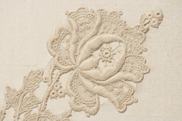 Image of OOAK Lace Wedding Photo Album, Personalized, Handmade
