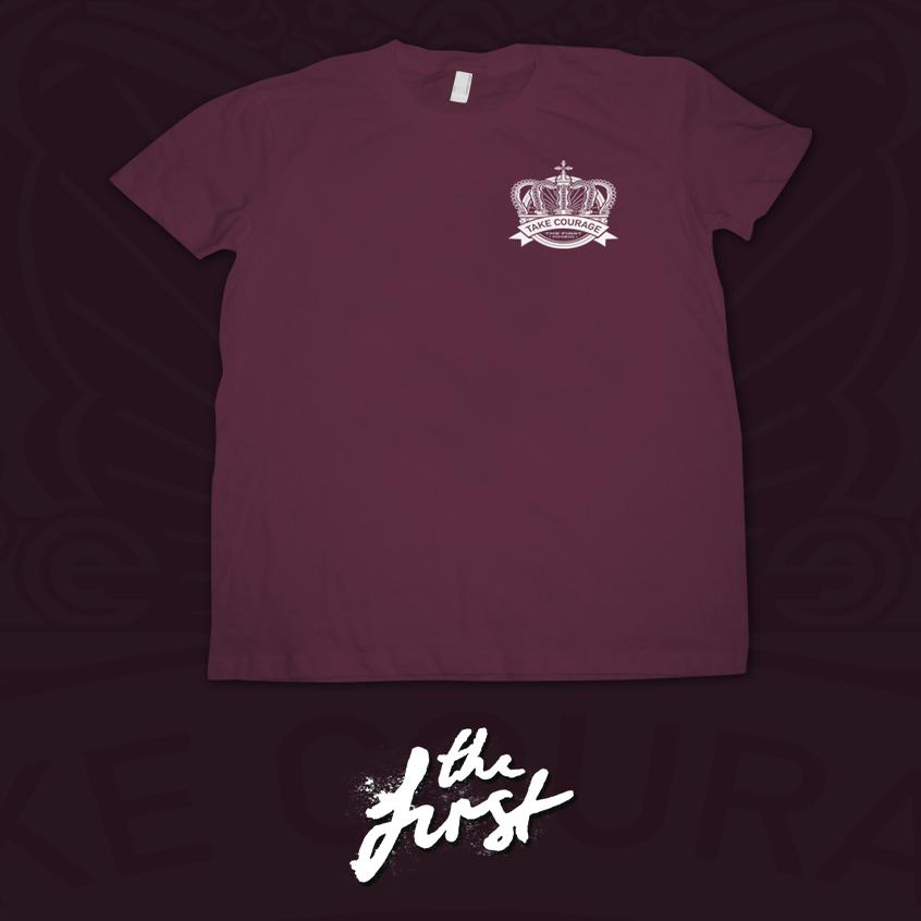 Image of Crown Emblem T-Shirt - Maroon