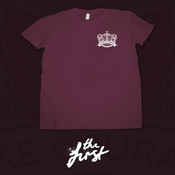 Image of Crown Emblem T-Shirt - Maroon