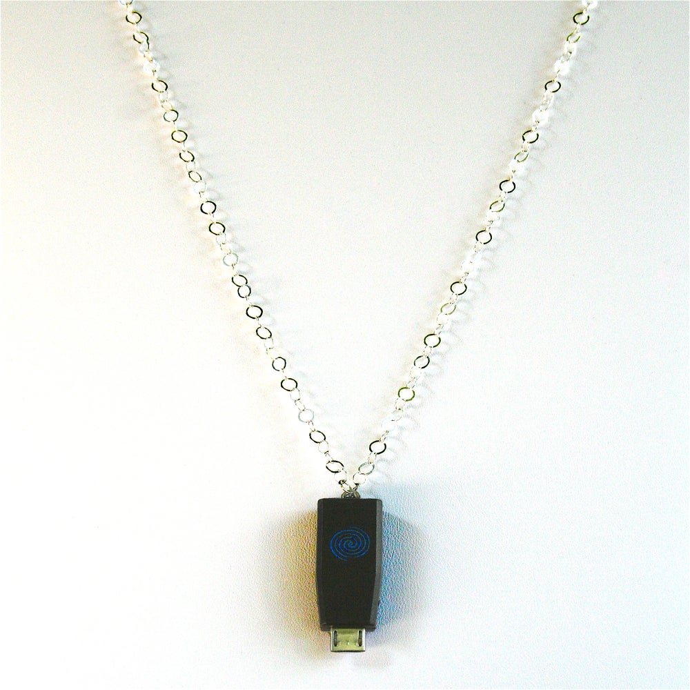 Image of STERLING SILVER Earpiece Holder Necklace