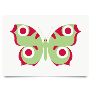 Image of Peacock Green print