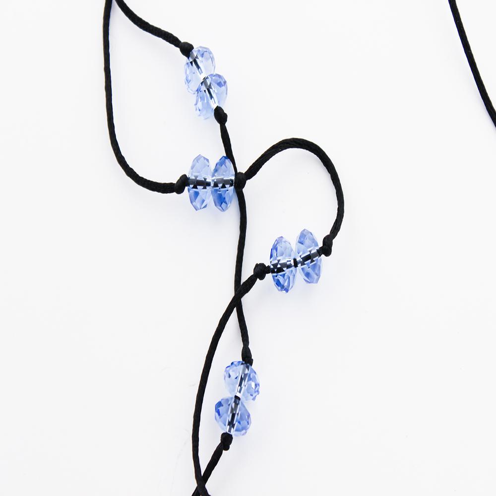 Image of CRYSTAL BLU Earpiece Holder Necklace
