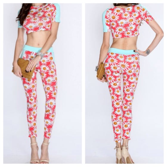 Image of 2pc Floral jogger sets