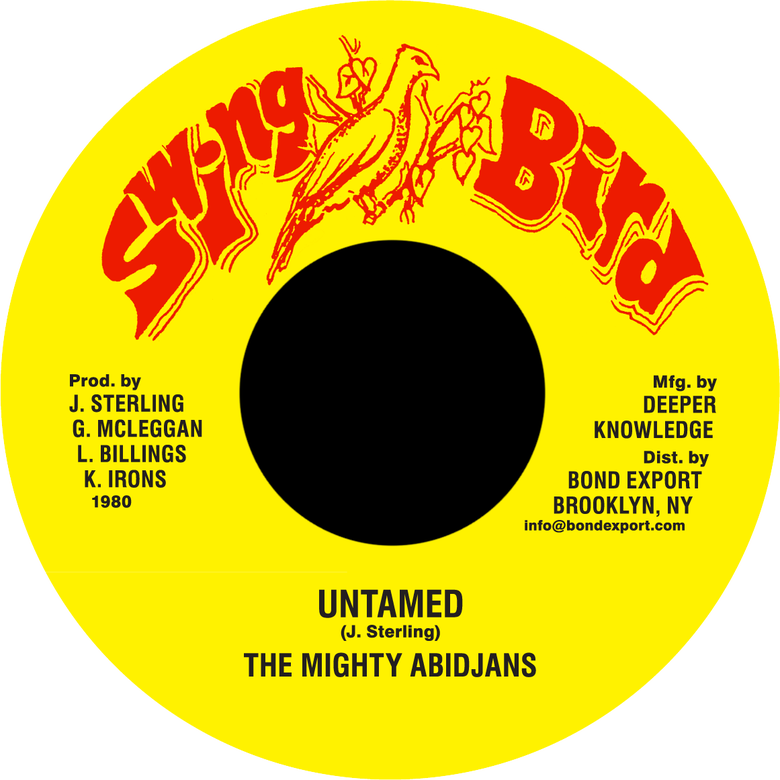 "Image of Mighty Abidjans - Untamed 7"" (Swing Bird)"
