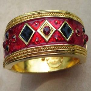 Image of Berebi Rare Limited Edition Couture Enamel Vintage Bracelet