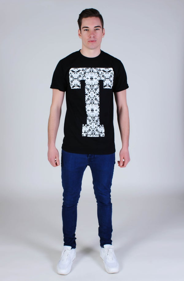 Image of Floral 'T' T-Shirt