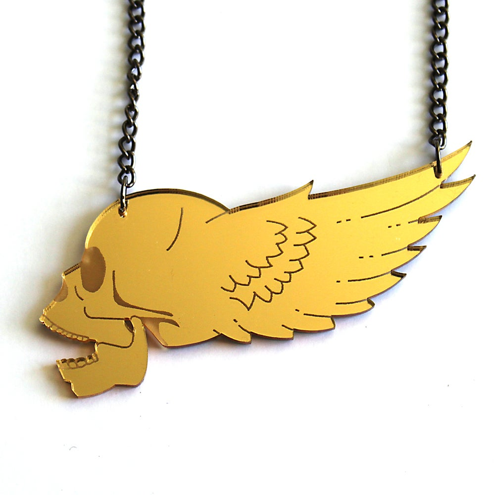 Image of Winged Skull Necklace