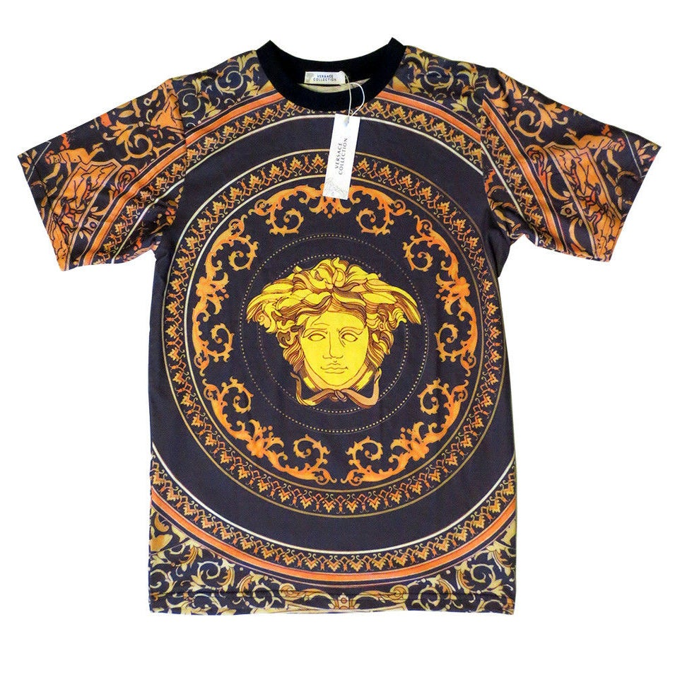 Authentic Baroque Versace T-Shirt With Medusa Head T-Shirt ...