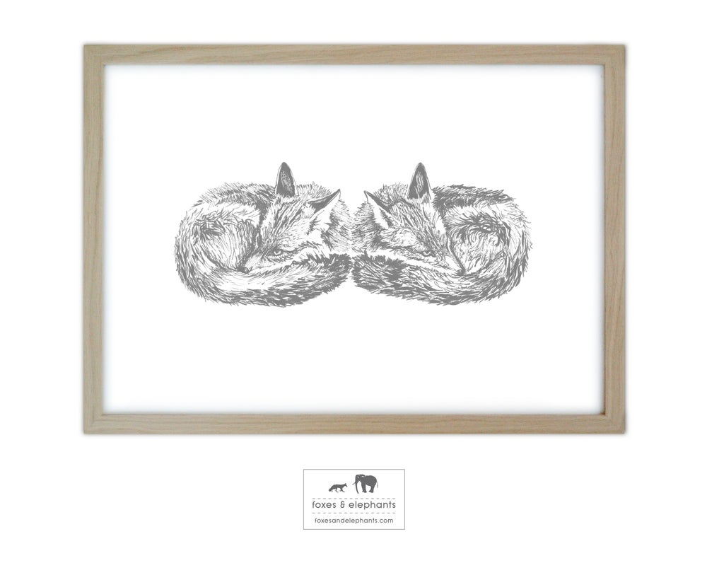 Image of Silent Foxes Screen Print