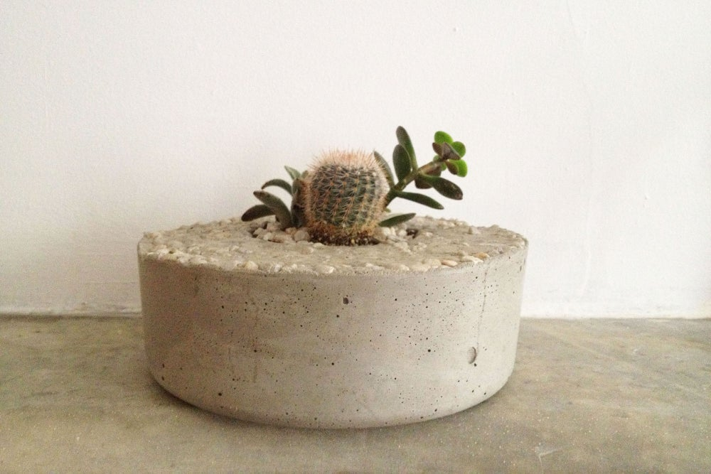 Image of plain concrete planter