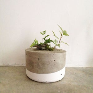 Image of dipped concrete planter