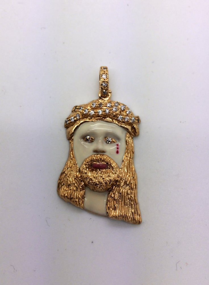 Image of Micro Messiah Jesus Head Enamel Finish