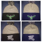 Image of Two tone Pom Pom Moose Beanie
